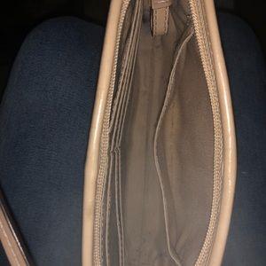 Small gold coach bag